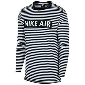 Nike Air Striped Long Sleeve Shirt  Black White